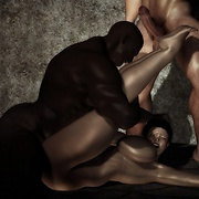 Interracial 3D fantasies