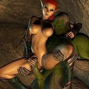 Elf and monster fantasy porn