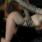 Innocent elf girls caught and fucked