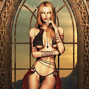 Sexy warrior elves nude and passionate