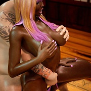 Interracial sex with young chocolate girl