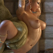 Delicious elf princess caught by horny orcs