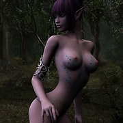 Take a walk through the misty forest naked